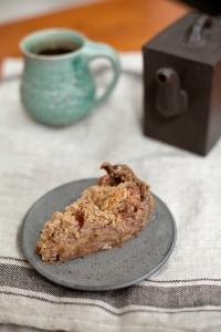 Buckwheat cardamom apple pie